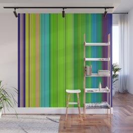 gren vertical stripes Wall Mural