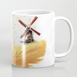 Air Feather • Yellow Feather (horizontal) Coffee Mug