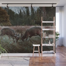Yosemite Bucks Locking Horns Wall Mural