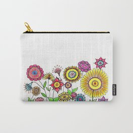 Bright Flowers II Carry-All Pouch