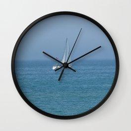 Sailing Lake Huron  Wall Clock
