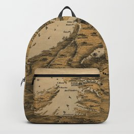 Vintage Virginia & Maryland Civil War Map (1861) Backpack
