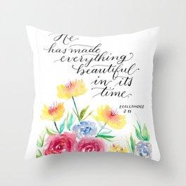 Ecclesiastes 3:11 - Bible Verse Throw Pillow
