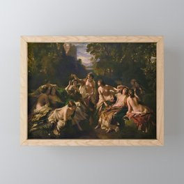 "1853 Classical Masterpiece ""Florinda"" by Franz Xaver Winterhalter Framed Mini Art Print"