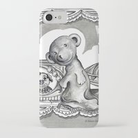 teddy bear iPhone & iPod Cases featuring Teddy by Alison Day Designs