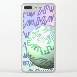 Pattern goes uphill with bowl Clear iPhone Case