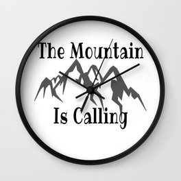 Climbing Quote Wall Clock