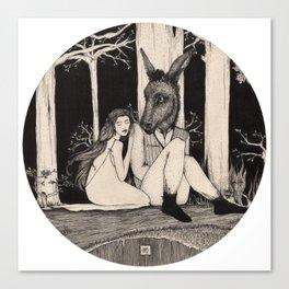 Titania & Bottom Canvas Print