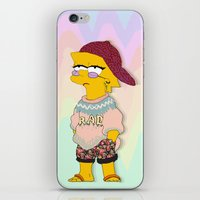simpson iPhone & iPod Skins featuring chic lisa simpson by Sara Eshak