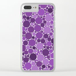 Sparse watercolor confetti dot colorful on white background. Chaotic pattern circle digital Clear iPhone Case