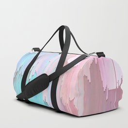 Pastel Glitches Fall Duffle Bag