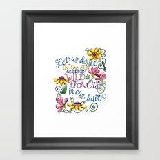 Let Us Dance Framed Art Print
