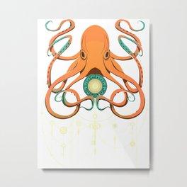 Timeless Octopus Metal Print
