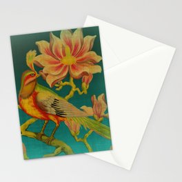 Indian Bird Trade Label Stationery Cards