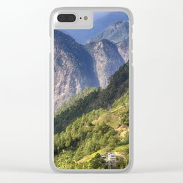 High in the Mountains - Himalayas of Bhutan Clear iPhone Case