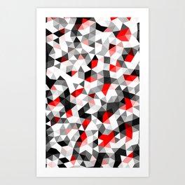 Crystal Triangles Geometrical Pattern Art Print