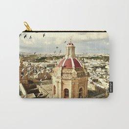 An aerial shot of the Parish Church of Saint Catherine, Zejtun Malta Carry-All Pouch
