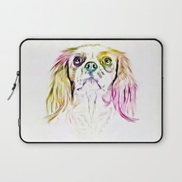 Cavalier King Charles Spaniel Dog Art Painting Laptop Sleeve