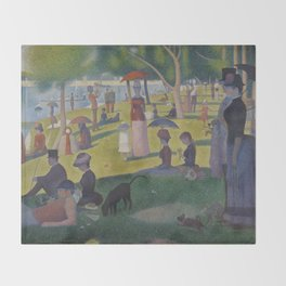 A Sunday Afternoon on the Island of La Grande Jatte (High Resolution) Throw Blanket