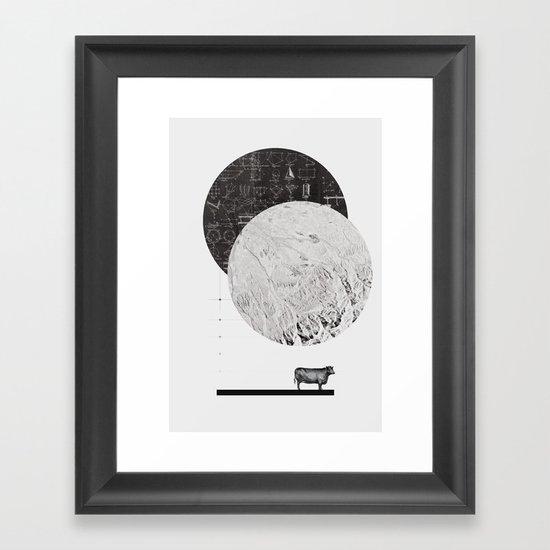 Calculating a Jump over the Moon Framed Art Print