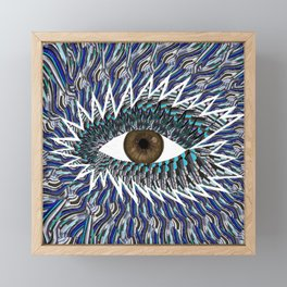 Origami Chakra Eye - Chocolate Brown Black Framed Mini Art Print