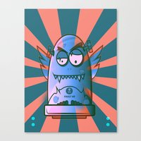 the fault Canvas Prints featuring Fault 45 02 (its not his fault) by Face Leakage
