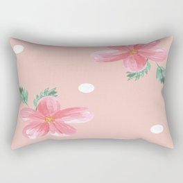 Floral Pattern Watercolor flowers Rectangular Pillow