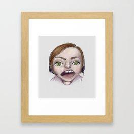 gamer gorl Framed Art Print