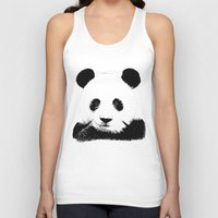 red panda Tank Tops featuring Red Panda by Laura Brightwood