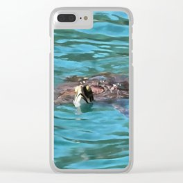 Loggerhead Sea Turtle Clear iPhone Case