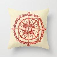 wander Throw Pillows featuring Wander by Samantha Crepeau