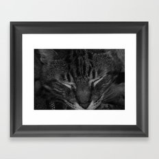 thor asleep Framed Art Print