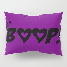 Sombra Ready to Boop Hearts - Black Pillow Sham
