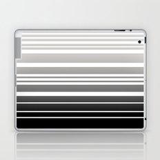 Bay Ombre Stripe: Gray Black Laptop & iPad Skin
