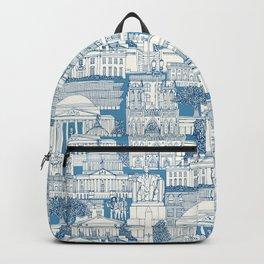 Washington DC toile blue Backpack