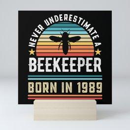 Beekeeper born 1989 40th Birthday Gift Beekeeping Mini Art Print