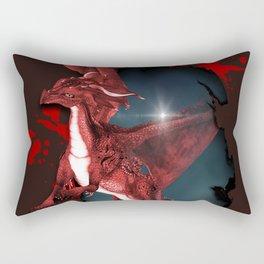 Cute Dragon in red Rectangular Pillow