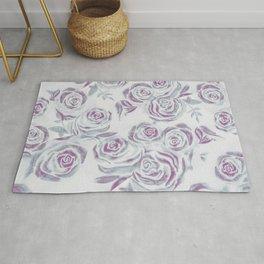 Light purple rose pattern  Rug