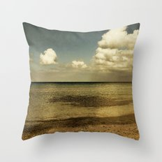 copper light Throw Pillow
