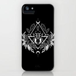 Scarab Queen // B&W 02 iPhone Case