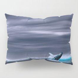 Whale in ocean night Pillow Sham