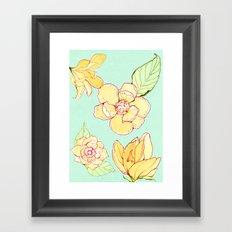 Summer flowers blue Framed Art Print