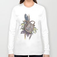compass Long Sleeve T-shirts featuring Compass by byfgal