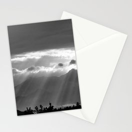 Rays of the Sun on an Alpine Lake black and white nature photograph Stationery Cards