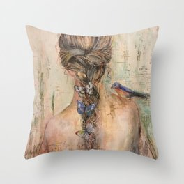 Medley of Wings Throw Pillow