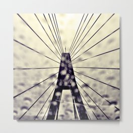 Slippery Bridge. Metal Print