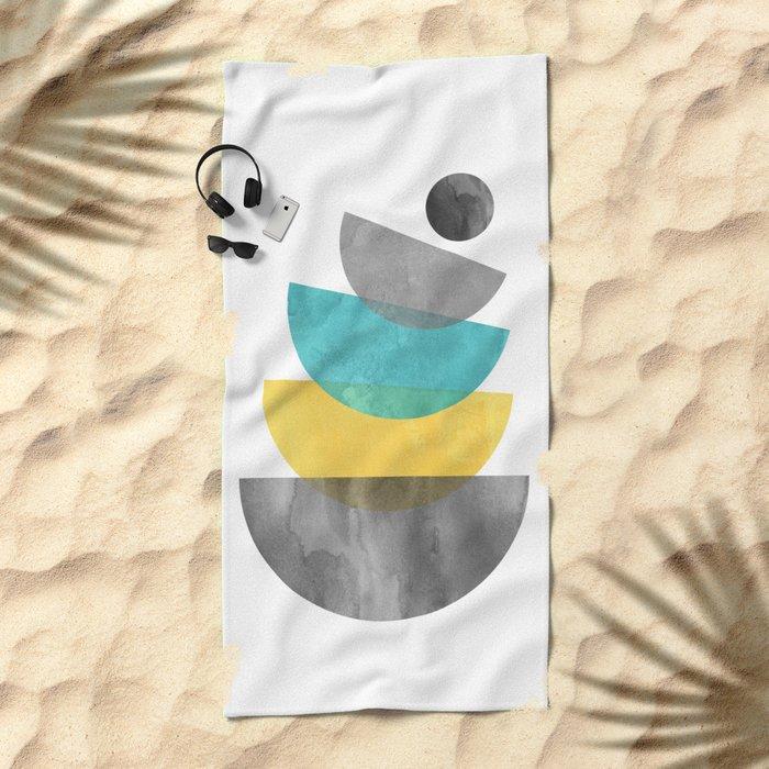 Mid Century Scandinavian Beach Towel