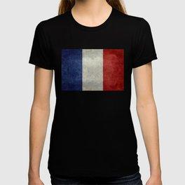 Flag of France, vintage retro style T-shirt