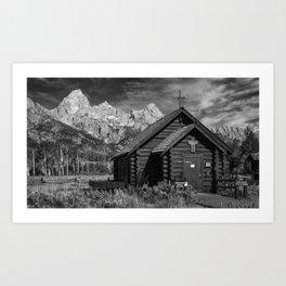 Chapel of Transfiguration and Grand Teton Art Print
