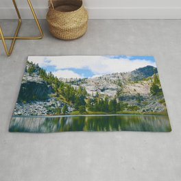 Desolation Wilderness Lake Reflection Rug